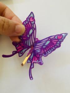 ピンを付けた蝶々