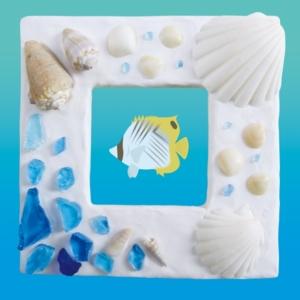 貝殻フォトフレーム