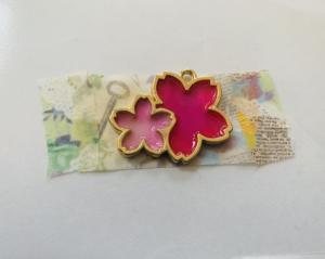 双子桜を二色で着色